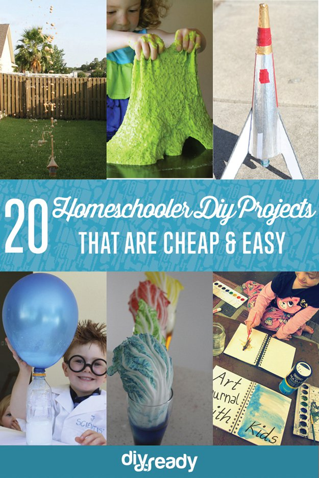 20 Cheap and Easy DIY Projects for Homeschoolers | https://diyprojects.com/cheap-and-easy-diy-projects-for-homeschoolers/