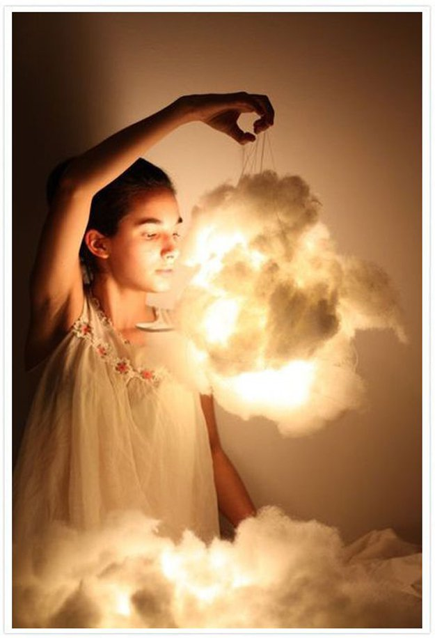 DIY Cloud Lights | 21 Bright DIY Outdoor Lantern Ideas For A Cool Garden Design