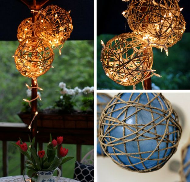 DIY String Lantern | 21 Bright DIY Outdoor Lantern Ideas For A Cool Garden Design