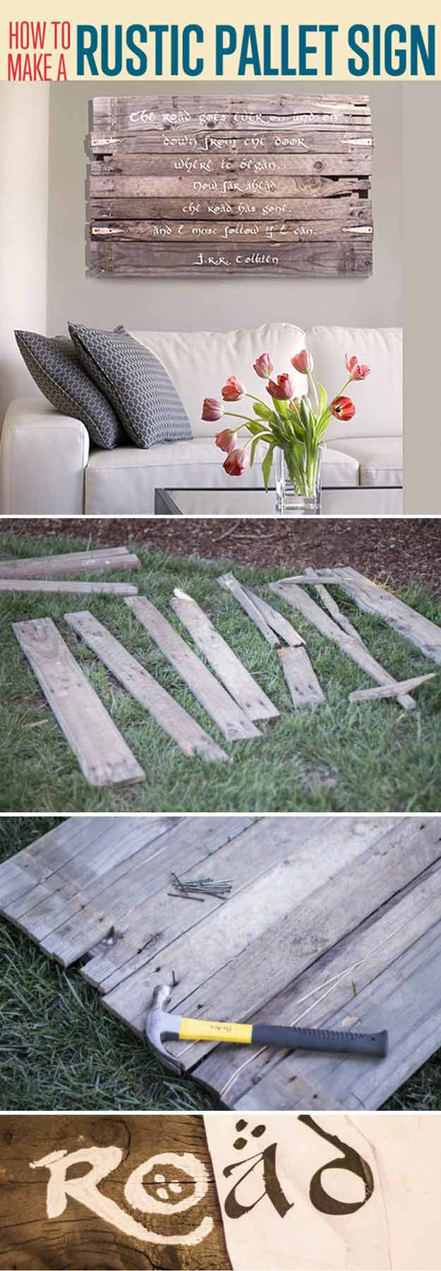 Pallet Wood Wall Art | Easy Woodworking Projects