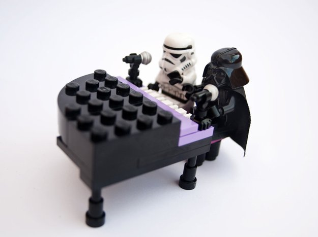 Darth Vader and Storm Trooper Play Piano | Fun DIY Lego Star Wars Inspiration | https://diyprojects.com/11-diy-lego-star-wars-ideas/