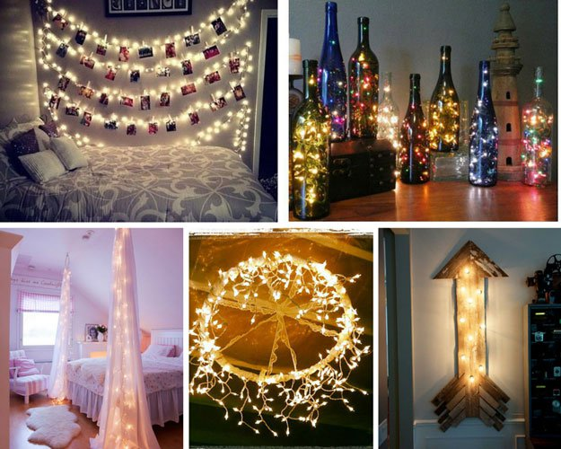Charming Diy Projects For Bedroom Decor Part - 4: Decorate With String Lights | 26 Cool DIY Projects For Teens Bedroom