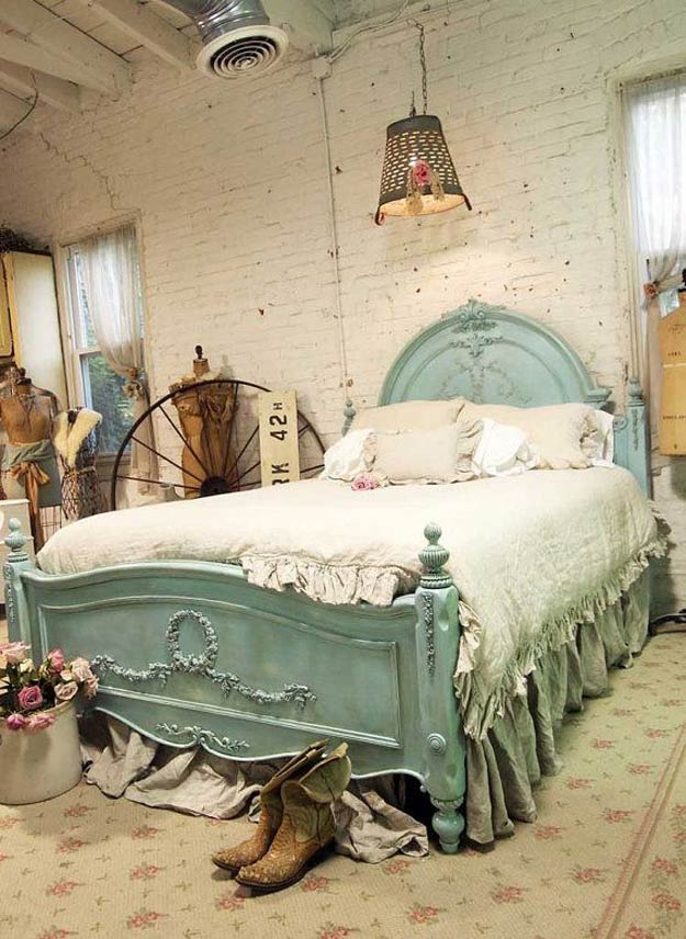 Vintage And Rustic Shabby Chic Bedroom Ideas | Https://diyprojects.com/