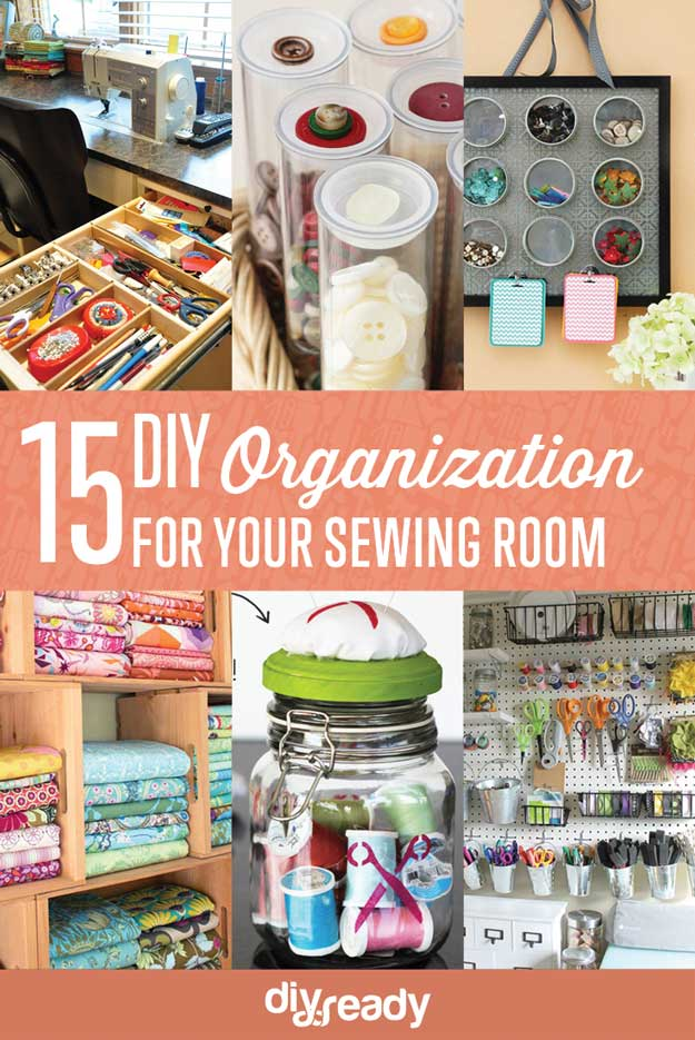 15 Sewing Room DIY Organization
