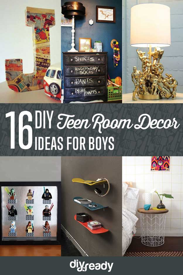 16 easy diy teen room decor ideas for boys httpsdiyprojects - Teen Boy Room Decorating