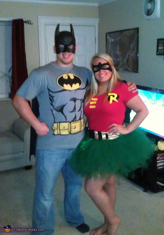 Batman and Robin Costume | 11 DIY Couples Halloween Costumes & Couple Halloween Costumes DIY Projects Craft Ideas u0026 How Tou0027s for ...