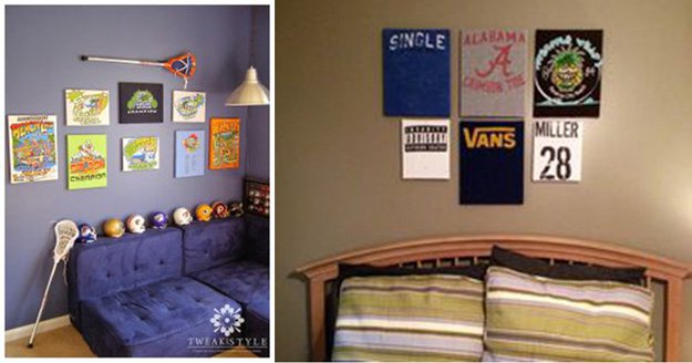 easy diy wall art ideas for teen boy bedroom httpsdiyprojects - Ideas For Decorating A Boys Bedroom