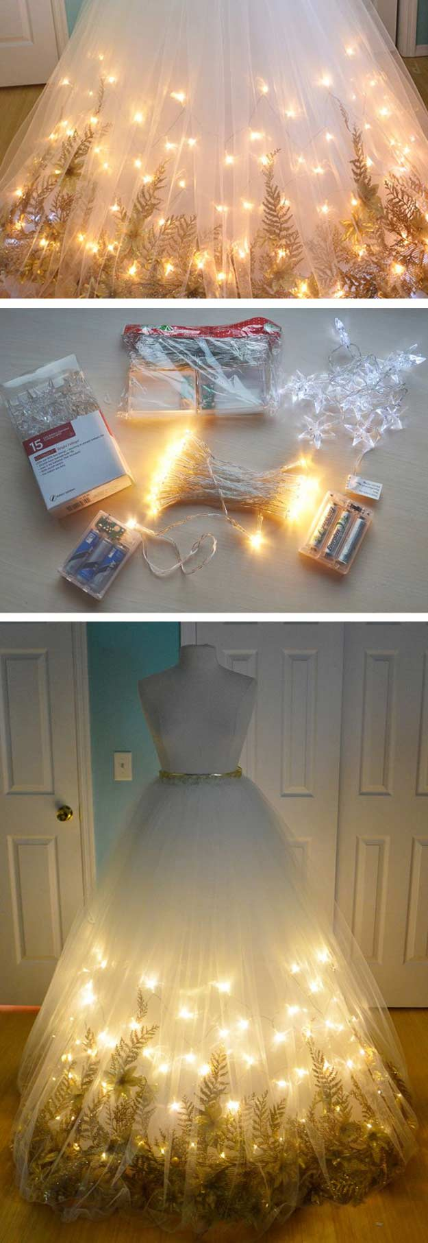 Light Up Fairy Garden Tulle Maxi Dress | 13 Clever DIY Halloween Costumes for Adults