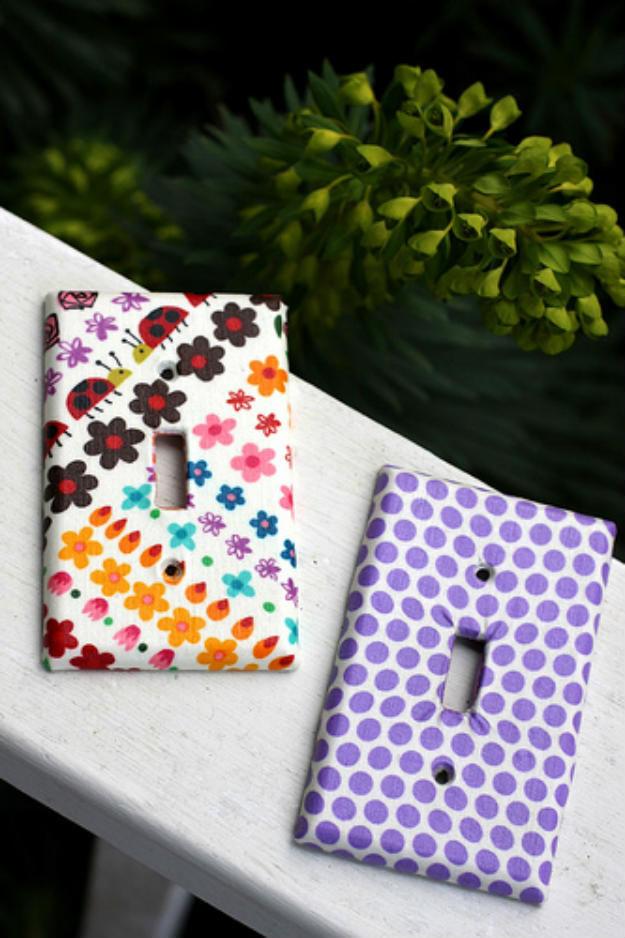 Fabric Covered Switchplates | DIY Fabric Crafts Perfect For Gifts For Friends