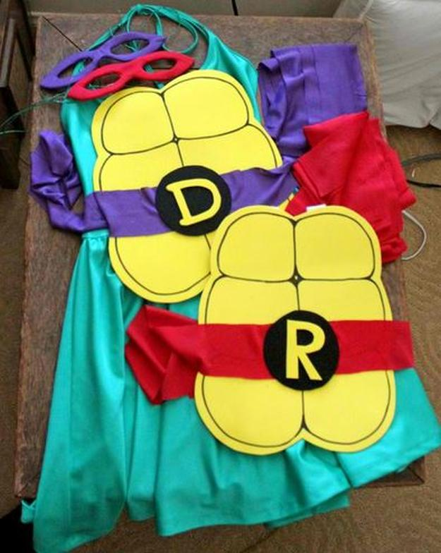 Quick DIY Ninja Turtle Costume | 15 DIY Ninja Turtle Costume Ideas: Cowabunga!