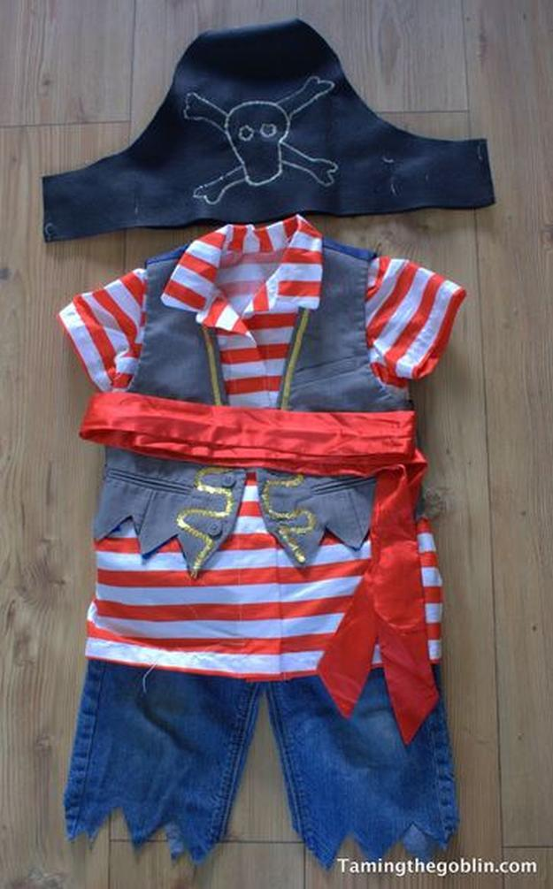 Pirate Craft Ideas For Kids Part - 48: DIY Pirate Costumefor Toddlers | 25 DIY Pirate Costume Ideas