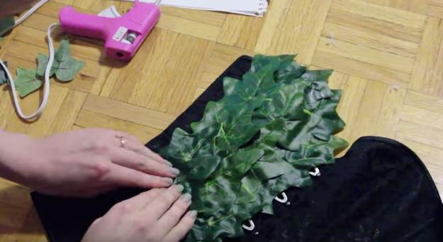 Start 'Planting' the Leaves on Your Corset | DIY Poison Ivy Costume