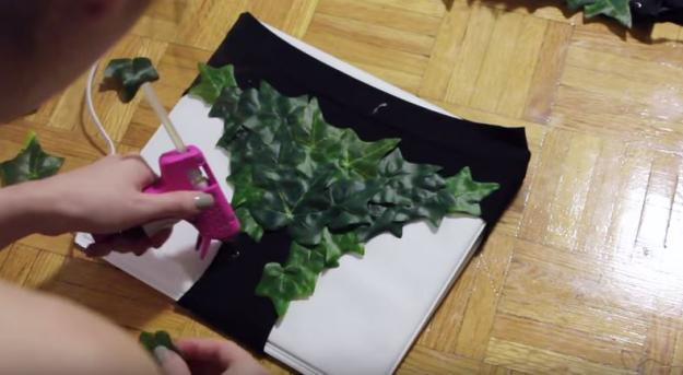 Glue Leaves to Your Skivvies | DIY Poison Ivy Costume
