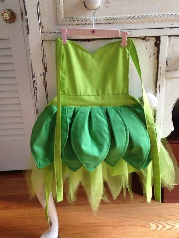 Tinkerbell Dress up Apron | 13 DIY Tinkerbell Costume Ideas
