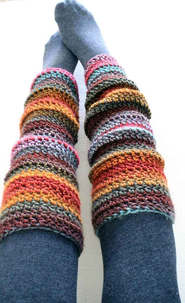 Beginner Crochet Leg Warmers | 17 Amazing Crochet Patterns for Beginners