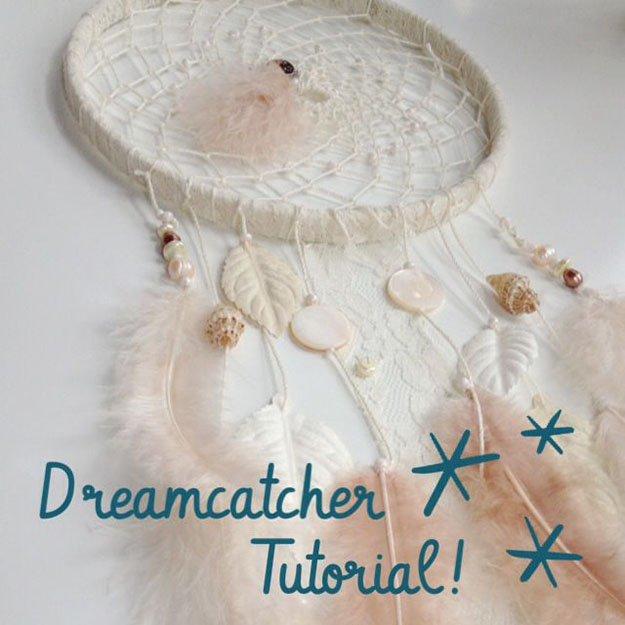 Fabric Scrap DIY Dreamcatcher | DIY dreammcatcher | Ideas & Inspiration, see more at https://diyprojects.com/diy-dreamcatcher-ideas-instructions-inspiration