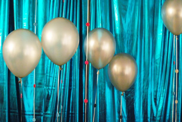 Fancy Balloon Strings | 20 New Year's Eve Party Ideas