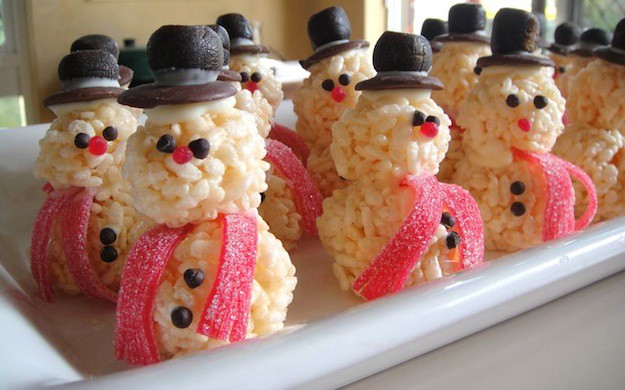 snowman rice krispie treat christmas rice krispie treats recipes youll love