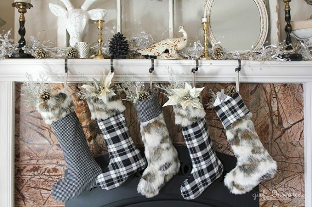 Fur Flannel Christmas Stockings | DIY Christmas Stockings