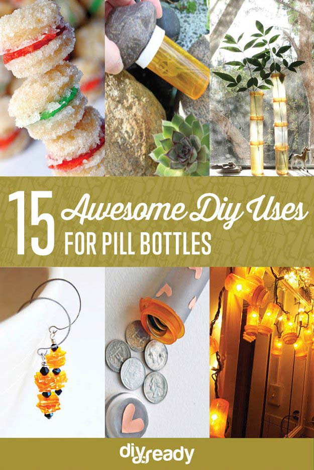 Infographic | Uses for Empty Pill Bottles Around the House | DIY Projects