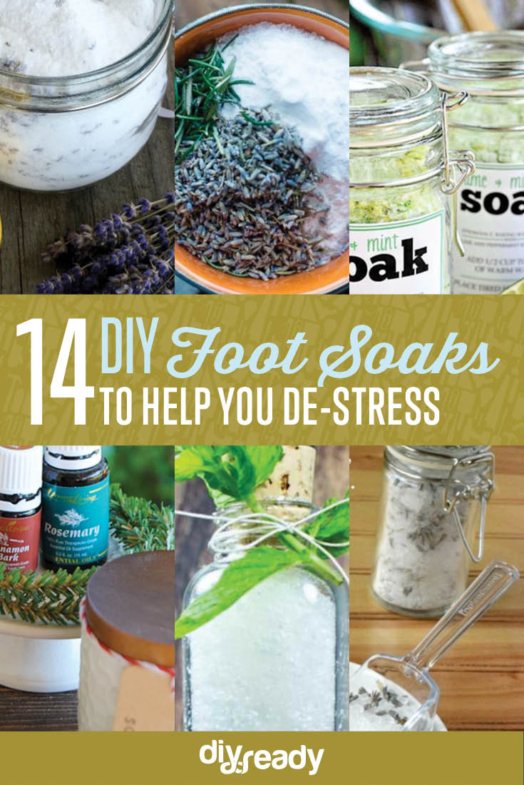 DIY Foot Soak Ideas, see more at: https://diyprojects.com/diy-foot-soak-ideas/