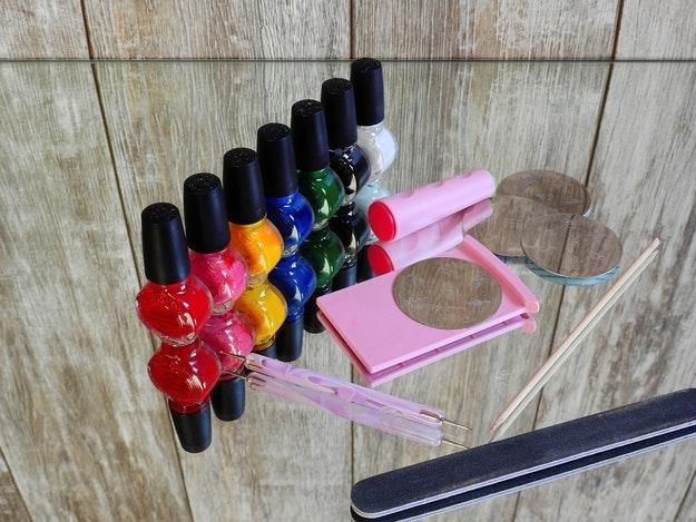 Check out 11 DIY Nail Polish Rack Ideas at https://diyprojects.com/diy-nail-polish-rack-ideas/