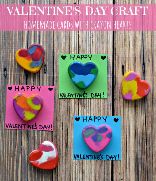 DIY Crayon Hearts Card | Unique and Easy Valentine's Day Cards