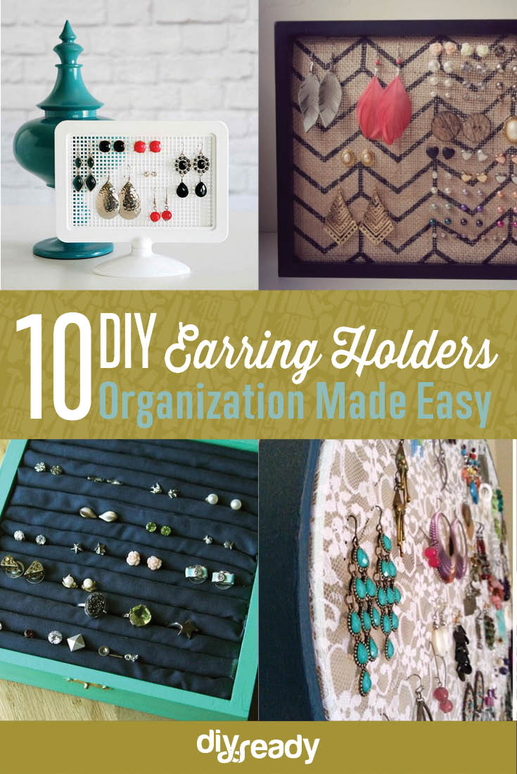 10 DIY earring holder ideas | organize your jewelry