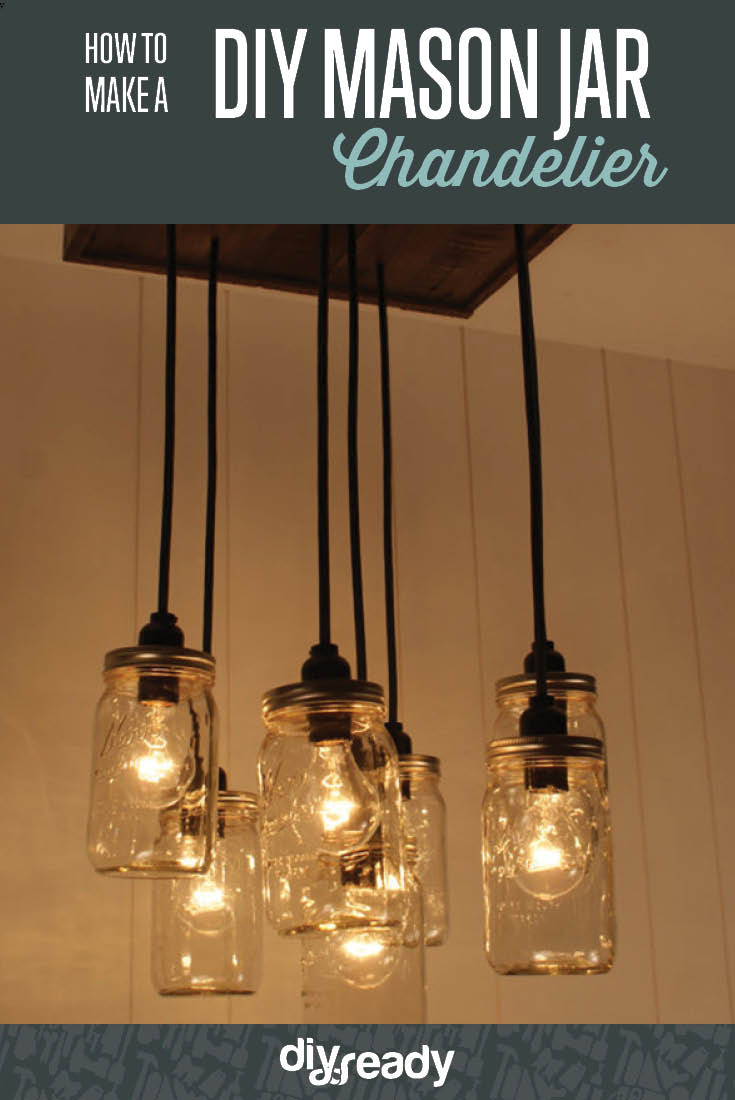 Learn to Make a DIY Mason Jar Chandelier | DIY Lighting