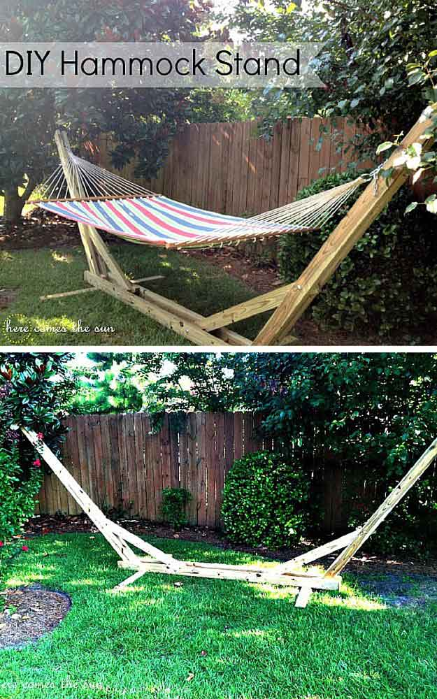 On a Budget Hammock Stand|DIY Hammock Stand Ideas