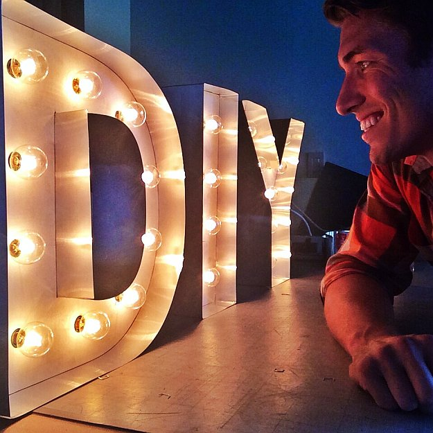 Create this fun DIY Marquee Letters by DIY Projects at https://diyprojects.com/how-to-make-diy-marquee-letters