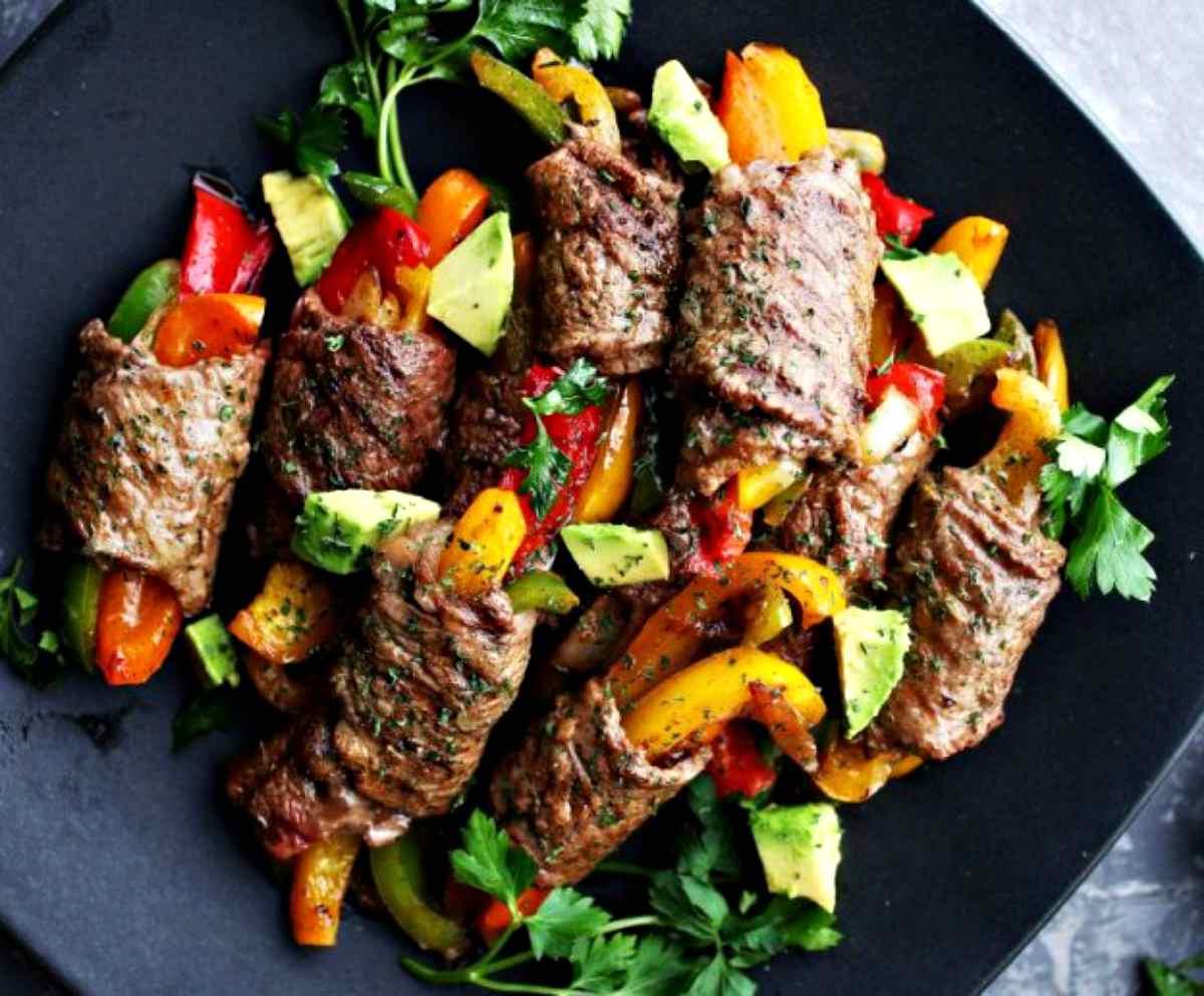 Steak Fajita Roll-Ups   Valentine's Day Dinner Ideas For Two On A Budget