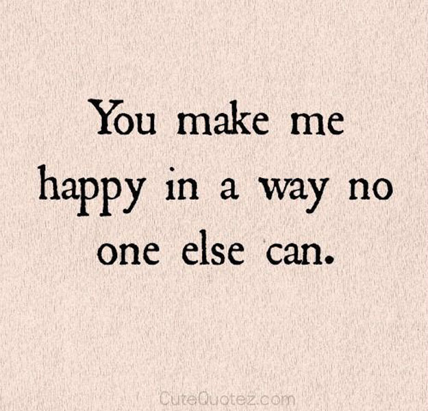 thank you for making me happy quotes