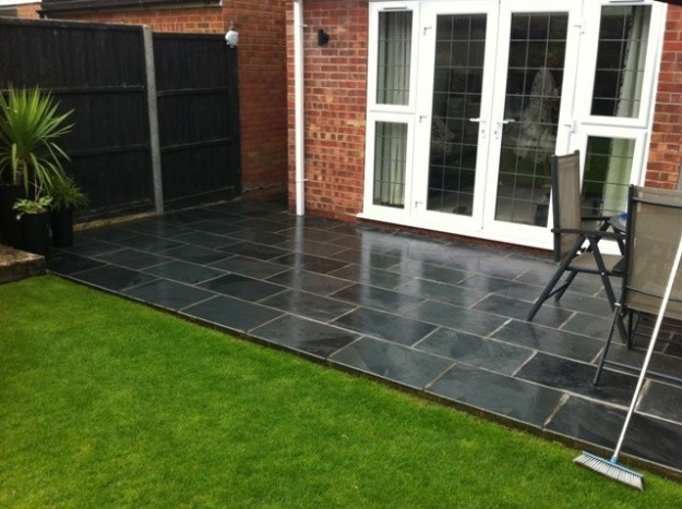 Black Slate Tiles 7 Nifty DIY Paving Projects For Every Garden