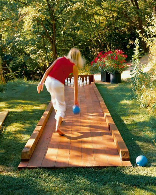 Design Your Own Backyard design your own backyard 1000 images about arbors on pinterest garden archway garden remodelling Turn The Backyard Into Your Very Own Bowling Alley By Diy Projects At Https