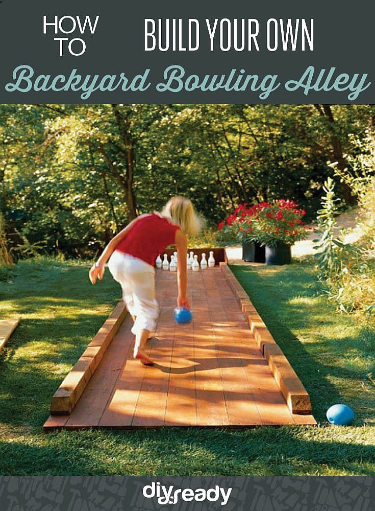 Turn the backyard into your very own bowling alley by DIY Projects at https://diyprojects.com/build-your-own-backyard-bowling-alley/