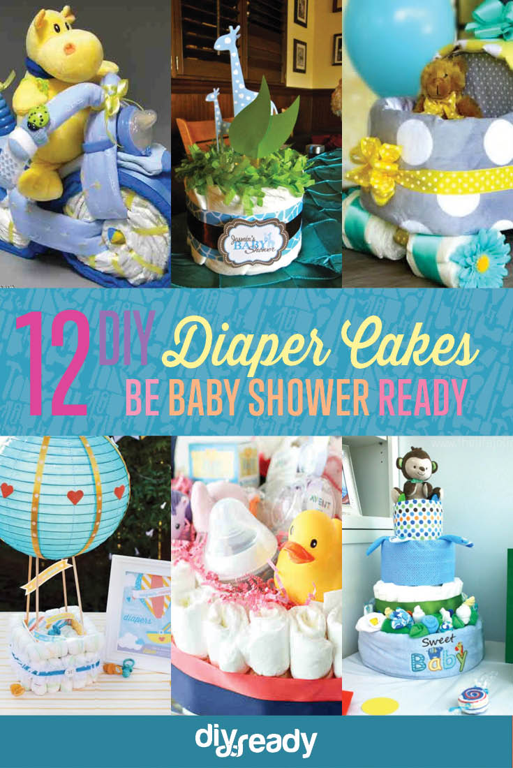 12 Adorable DIY Diaper Cake Ideas Anyone Can Make