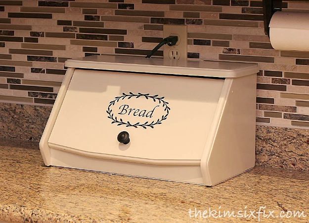 Kitchen Charging Station Disguised In Bread Box | 51 Terrific Ways To A DIY Kitchen Upgrade | DIY Projects