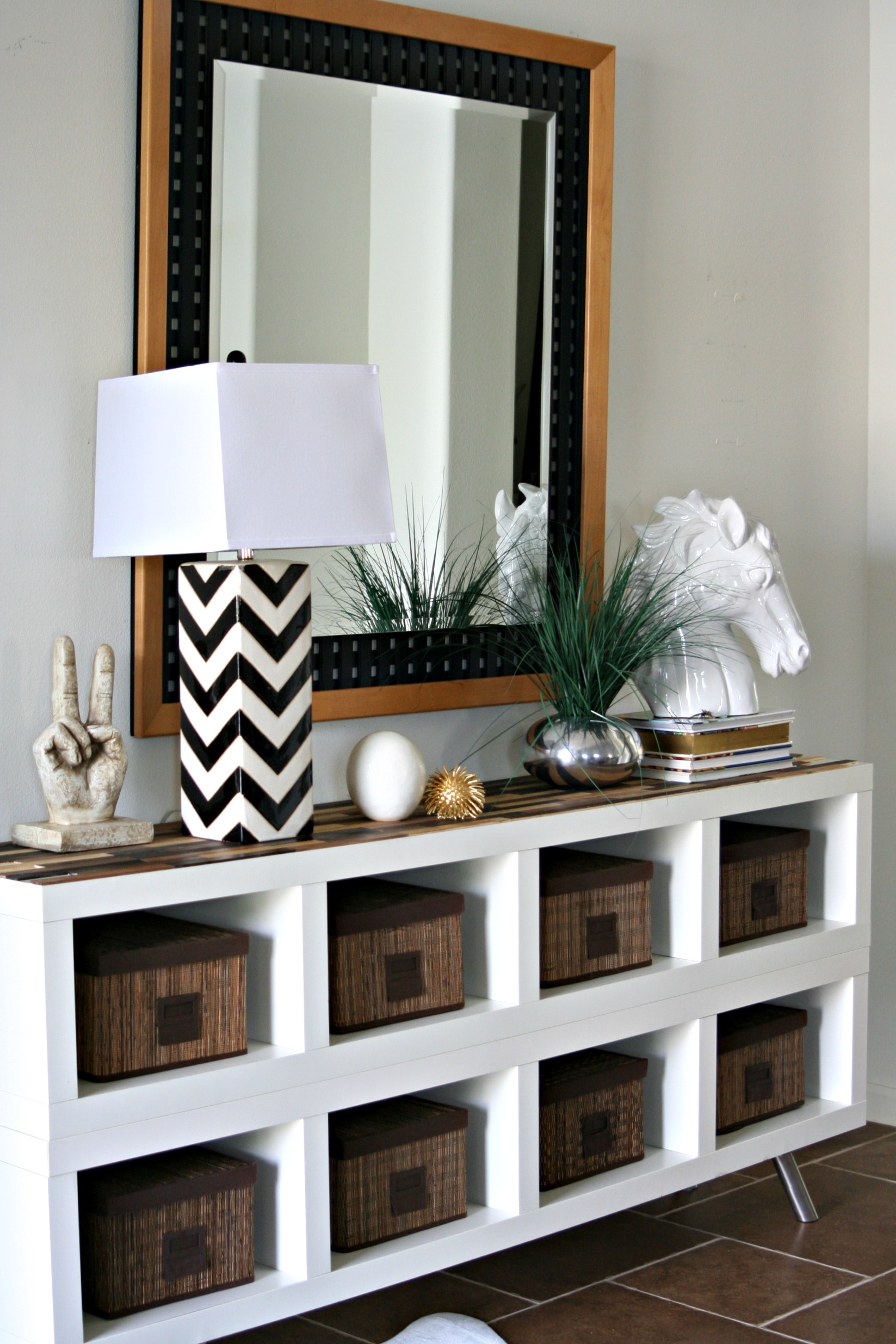 Transforming Expedit Shelves With Paint Sticks Ikea Hack Your Crafting E 51 Craft Room