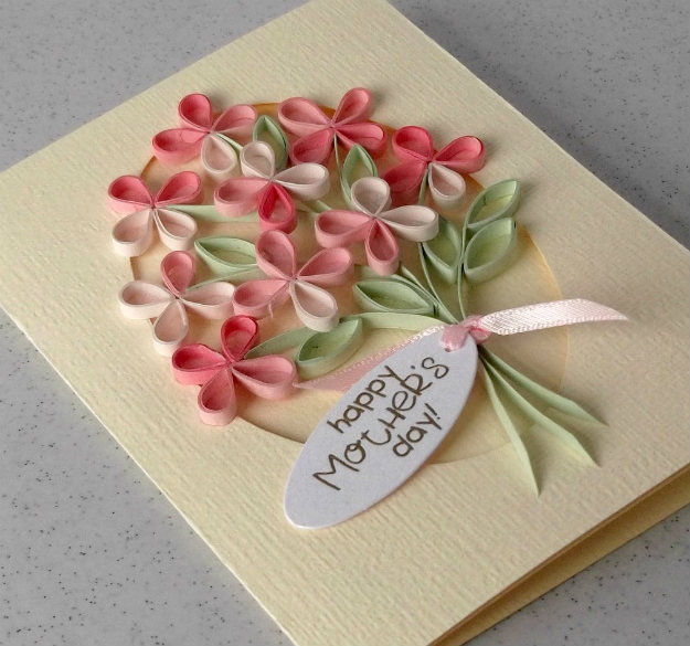 Quilled Mother's Day Card | Homemade Mother's Day Cards | Handmade Crafts