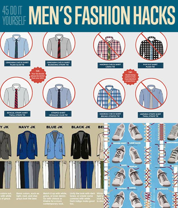 DIY Mens Fashion Hacks