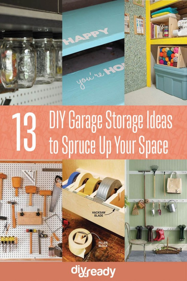 13 DIY Garage Storage Ideas to Spruce Up Your Space! See them all at DIY Projects