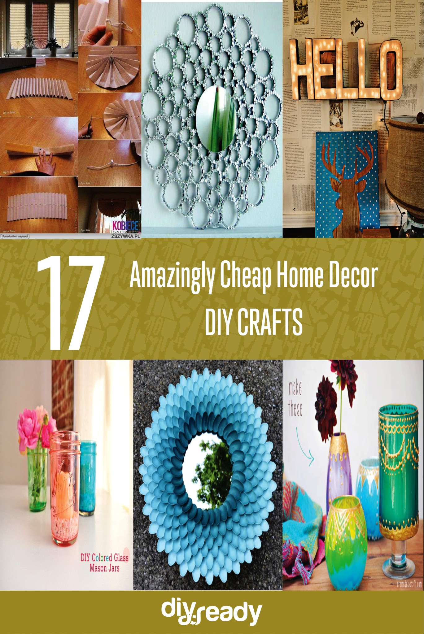 17 amazingly cheap home decor diy crafts - Cheap Decor