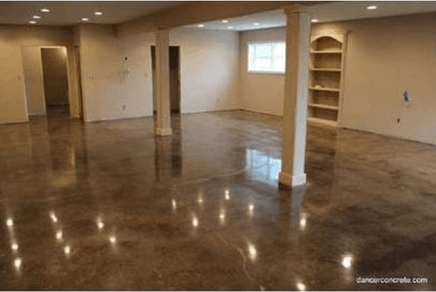 How to make cement floors more appealing diy projects for How to care for stained concrete floors