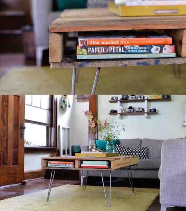 DIY Pallet Coffee Table | These Amazing DIY Storage Ideas Are Too Awesome For Words