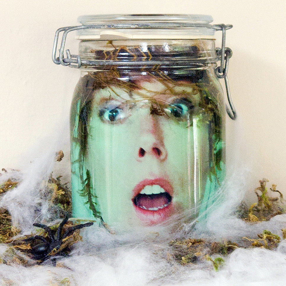 Head in a Jar | Cute But Creepy Halloween Décor