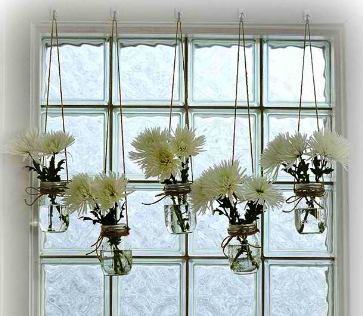 Delightful Mason Jar Window Treatment | 17 Of The Best Living Room DIY Projects And Decor  Ideas