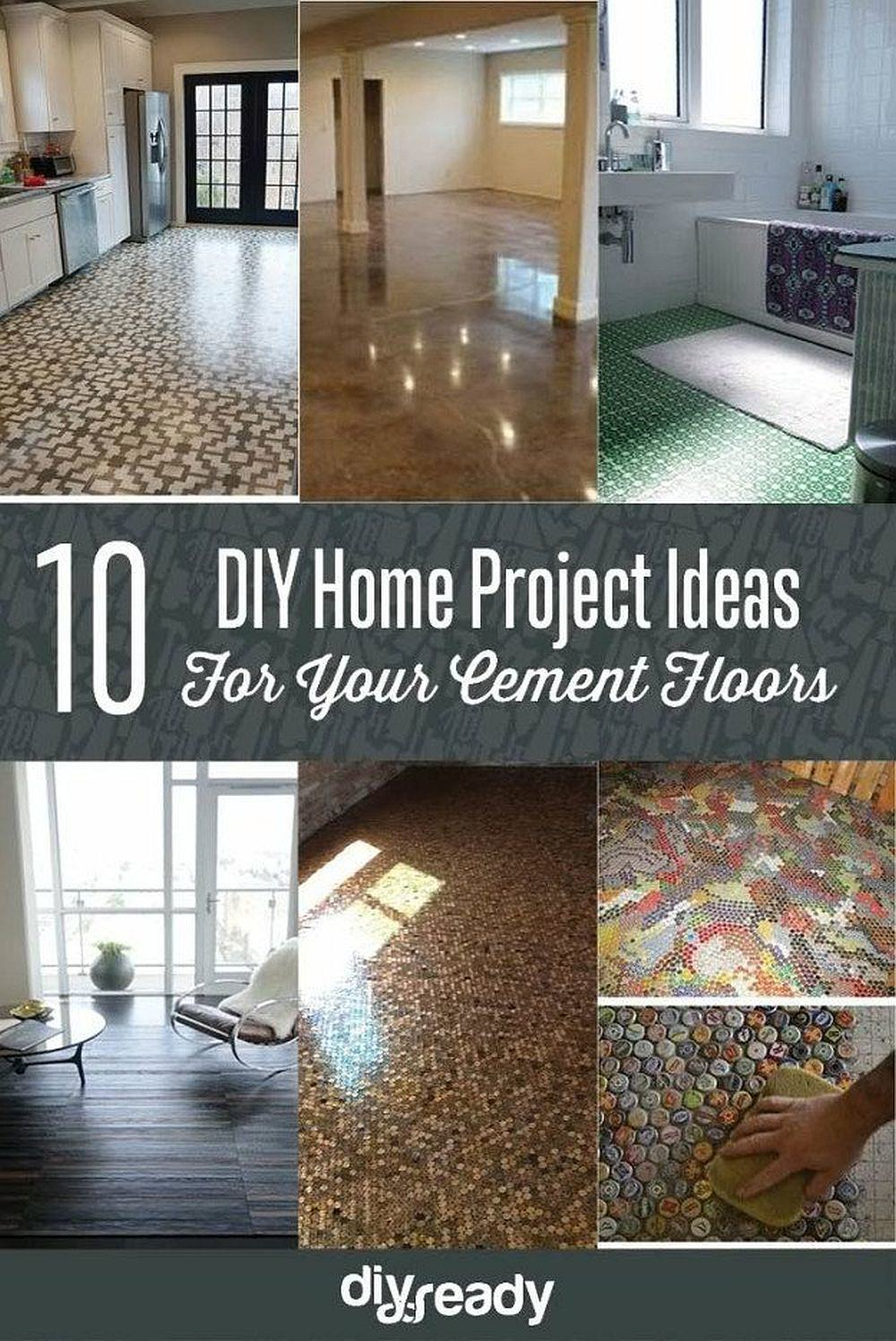 10 DIY Home Project Ideas For Your Cement Floors | DIY Projects's Ingenious DIY Hacks For Home Improvement