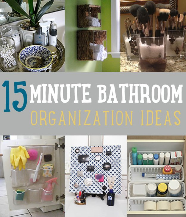 15 Minute DIY Bathroom Organization Ideas | DIY Projects's Ingenious DIY Hacks For Home Improvement