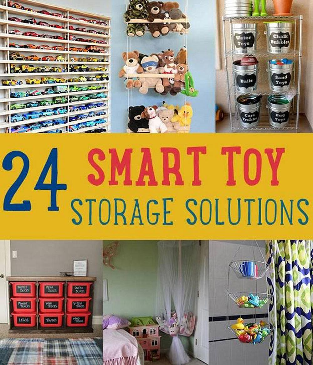 24 Smart DIY Toy & Crafts Storage Solutions | DIY Projects's Ingenious DIY Hacks For Home Improvement